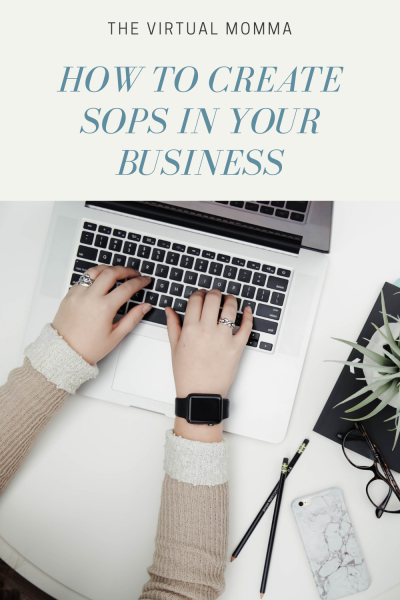 How to create SOPs